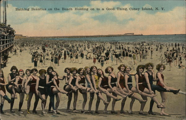 Bathing Beauties on the Beach Coney Island New York