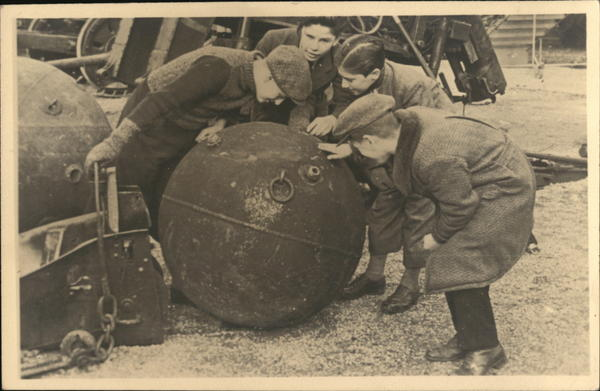 Children Inspecting a Bomb Austria