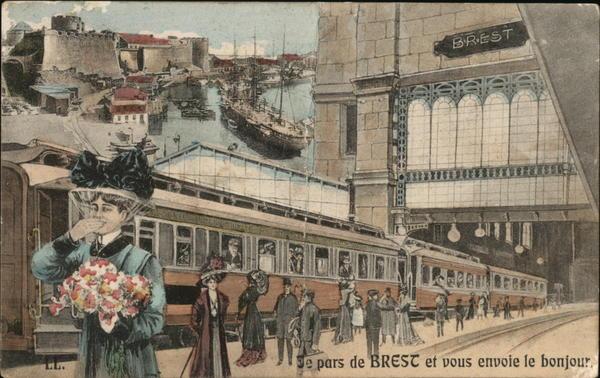 Le Pars de Brest et Vous Envoie le Bonjour