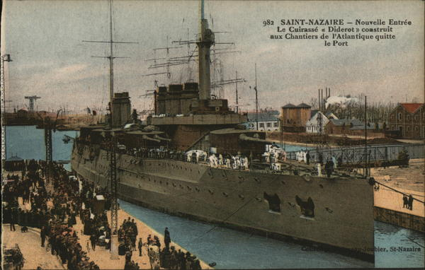 Navy Shipped Docked Saint Nazaire France