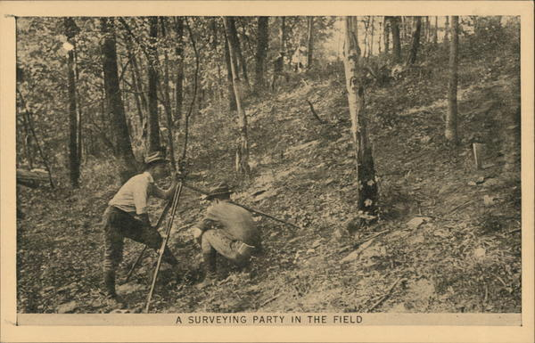 A Surveying Party in the Field Men