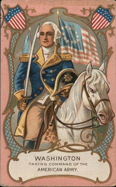 Washington Taking Command of the American Army Patriotic