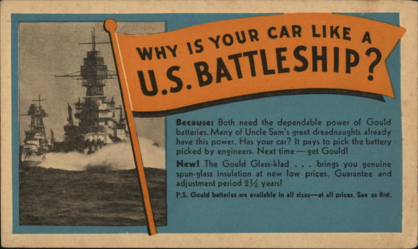 Why is your Car Like a US Battleship? Advertising