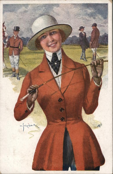 The Belle of the Hunt - Woman with Riding Crop Women