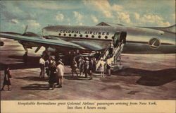 Colonial Airlines' Passengers Boarding