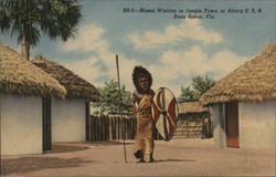 Masai Warrior in Jungle Town at Africa USA