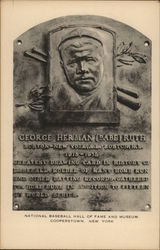 National Baseball Hall of Fameand Museum - Babe Ruth Plaque