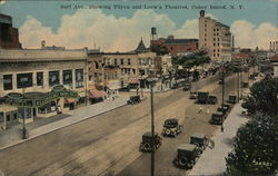 Surf Avenue showing Tilyou and Loew's Theatres, Coney Island