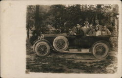 Portrait of Family in Car Scene