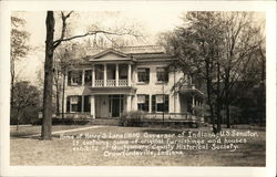 Home of Henry S. Lane - Governor of Indiana Postcard