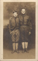 Father and Son in Uniform - Scouts or Military