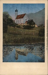 Painting of Church Reflected in Water