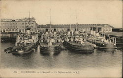 Ships Moored at Cherbourg (L'Arsenal)