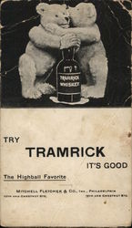 Advertisement for Tramrick Whiskey with Teddy Bears