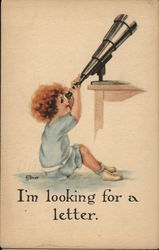 Child Looking Through Telescope - I'm Looking for a Letter