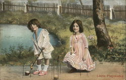 Children Playing Croquet - Little Playmates