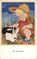Child with Rabbits - My Bunnies!
