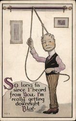 Illustration of Man Trying to Hang Himself