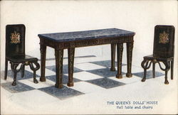 The Queen's Dolls' House - Hall Table and Chairs