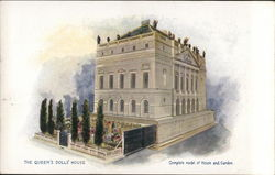 Square Gray Building with Garden and Patio - The Queen's Dolls' House