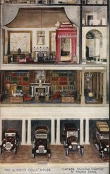 The Queen's Dolls' House - Garage Showing Interior of Rooms Above