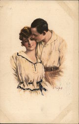 Couple Embracing, Casual Dress