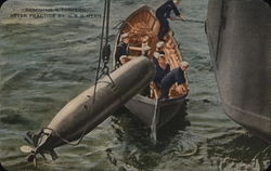 Rescuing a Torpedo After Practice by USS Utah