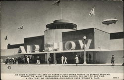 1933 Chicago World's Fair - Air Show Pavilion Souvenir Post Card