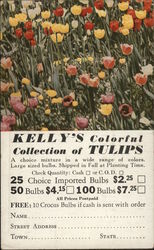 Kelly's Colorful Collection of Tulips Order Form Postcard