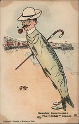 "Comic Illustration Fish Man - Seaside Specimens: the ""Giddy"" Kipper"