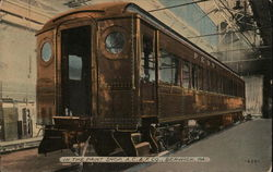 Bronze Colored Streetcar Parked - In the Paint Shop, A. C. & F. Co.