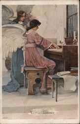 Angels Playing Organ