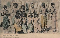 Fire land indians Postcard
