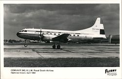 Convair 340, K.L.M. Royal Dutch Airlines, Heathrow Airport 1954