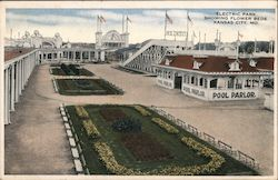 Electric Park Showing Flower Beds Postcard