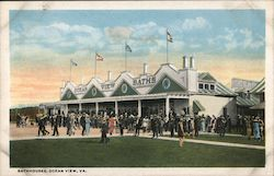 Ocean View Baths Postcard