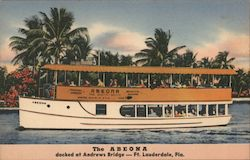 The Abeona docked at Andrews Bridte Postcard