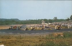 National Championship Motorcycle Road Races Postcard