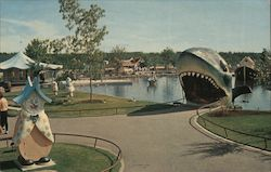The Hungry Shark, Children's Zoo, Storyland Valley Postcard