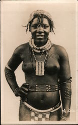Nude Tribal Girl Postcard