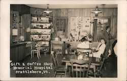 Gift & Coffee Shop Memorial Hospital Postcard