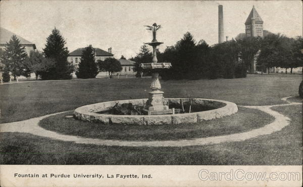 Fountain at Purdue University Lafayette Indiana