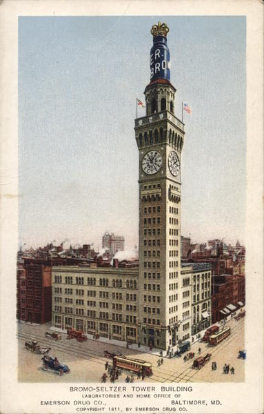 Bromo-Seltzer Tower Building, Laboratories and Home Office of Emerson Drug Co. Baltimore Maryland
