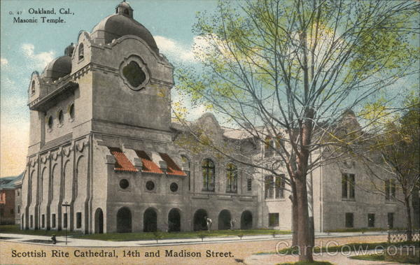 Masonic Temple, Scottish Rite Cathedral, 14th and Madison Street Oakland California
