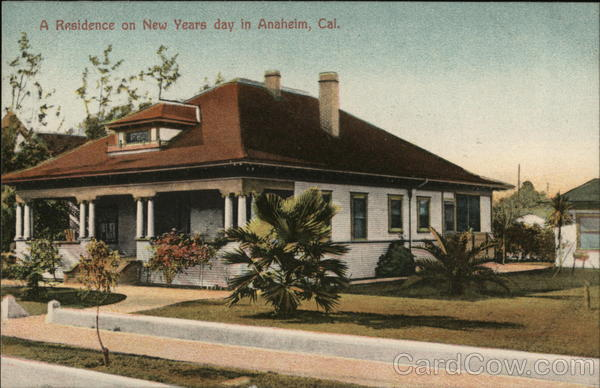 A Residence on New Years Day Anaheim California