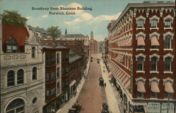 Broadway from Shannon Building Norwich Connecticut