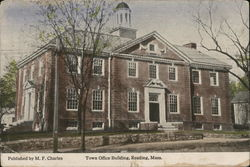 Town Office Building Postcard