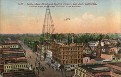 Santa Clara Street and Electric Tower, Looking West From First National Bank Building