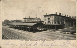 Logan House and R. R. Depot