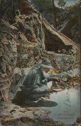 An Old Miner Panning Gold